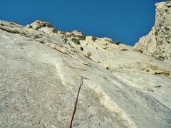Rock Climbing Photo: Paul leading. It was one of his first granite slab...