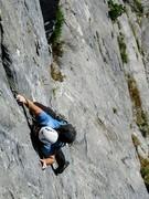 Rock Climbing Photo: Rob Beno on P3 of MMMM, Boyden Cavern Wall
