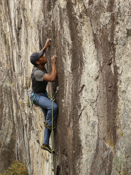 Rock Climbing Photo: Brandon Blackburn on Sunnyside Up.
