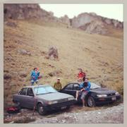 Rock Climbing Photo: The usual parking rituals.  Shown from L to R is S...