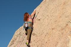 Rock Climbing Photo: Meg leading Naughty Pine 5.6