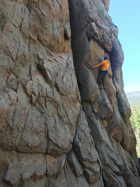 Rock Climbing Photo: A couple moves before pulling the roof on One Arme...