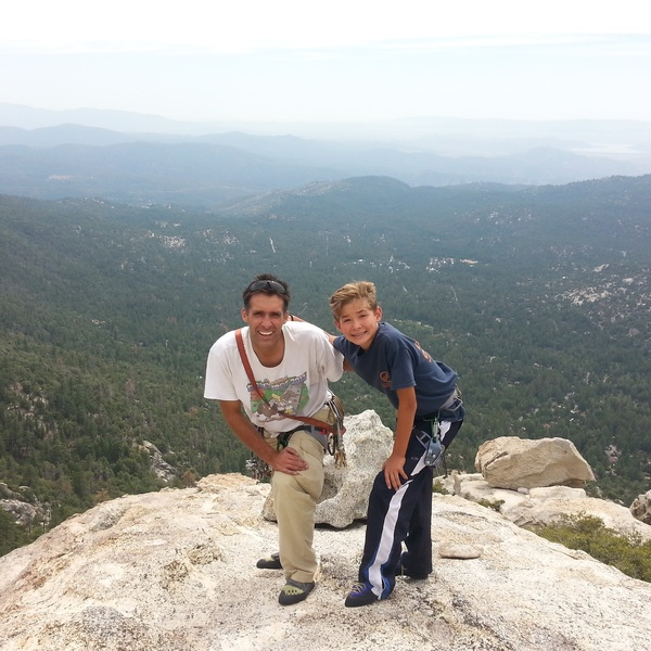 First time top of Tahquitz with son, Ben