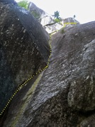 Rock Climbing Photo: Pitch 1 and 2 until it meets Jungle Warfare. The b...