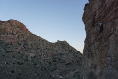 Rock Climbing Photo: The tech-vert section at the top.  Just when the j...