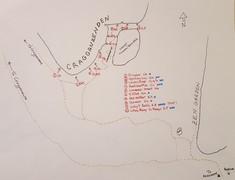 Rock Climbing Photo: Overview Map of Cragganzenden