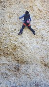 Rock Climbing Photo: Joi seconding the FA of Pringles 11b, Cragganzende...
