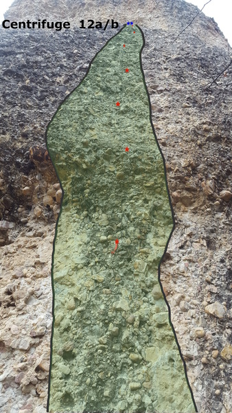 Rock Climbing Photo: Centrifuge 12a/b right after bolting 4/30/17.  Sti...