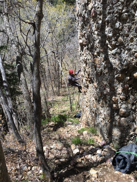 Rock Climbing Photo: Cleaning and prepping Centrifuge 12 a/b for boltin...