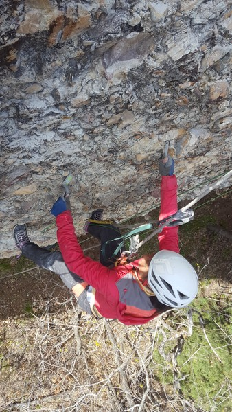 Rock Climbing Photo: Cleaning the crimps while establishing Centrifuge ...
