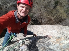 Rock Climbing Photo: A ridiculous selfie after the FA of Radioactive, 1...