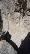 Rock Climbing Photo: 4 Star 12a as seen from part way up Lucy's Perch. ...