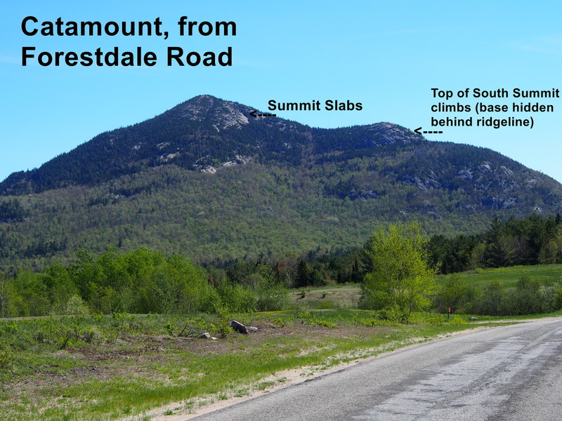 Rock Climbing Photo: Catamount Mtn. - from Forestdale Road