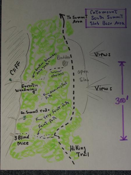 So. Summit Slab Base Area Sketch Map