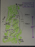 Rock Climbing Photo: So. Summit Slab Base Area Sketch Map