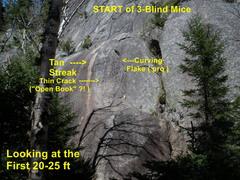 Rock Climbing Photo: 3 Blind Mice START