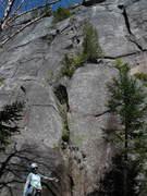 Rock Climbing Photo: S Matz at base of 3 Blind Mice
