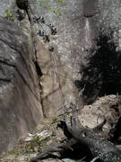 Rock Climbing Photo: Dead tree makes for a nice open spot at the base o...