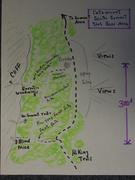 Rock Climbing Photo: So. Summit Slab Area Sketch Map