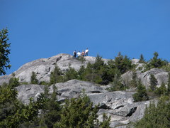 Rock Climbing Photo: Hikers on actual South Summit