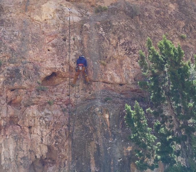 Rock Climbing Photo: Upper portion of the route.