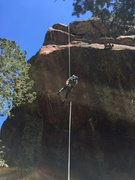 Rock Climbing Photo: A 2nd rope makes the rap much easier.  I was glad ...