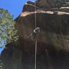 A 2nd rope makes the rap much easier.  I was glad to skip the hanging anchor....