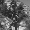 John Muir and the Indian Buttress! <br> Circa 1890.