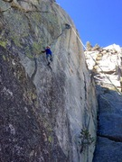Rock Climbing Photo: Mr. Ladd just before the goods on The Y!!!!