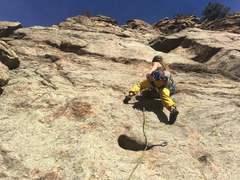 Rock Climbing Photo: Starting off on Skimbleshanks.