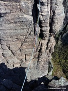 Rock Climbing Photo: Begin of pitch 2. Place your pro while still havin...