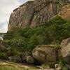 Main wall at Ngomakurira, from the north