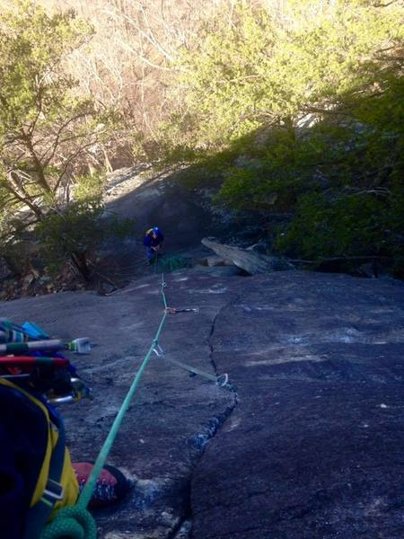 Rock Climbing Photo: fun easy trad lines at the Bald