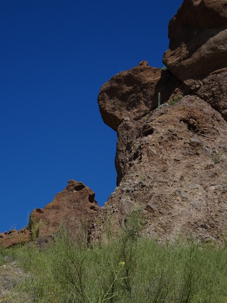 Overhang route in profile, West end of Suicide wall, Photo by Richard