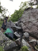 Rock Climbing Photo: The arete X marks the Spot