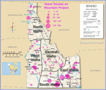 Rock Climbing Photo: Geographic Regions of Idaho