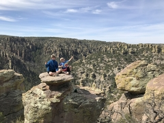 My boys at Chiricahua National Monument.
