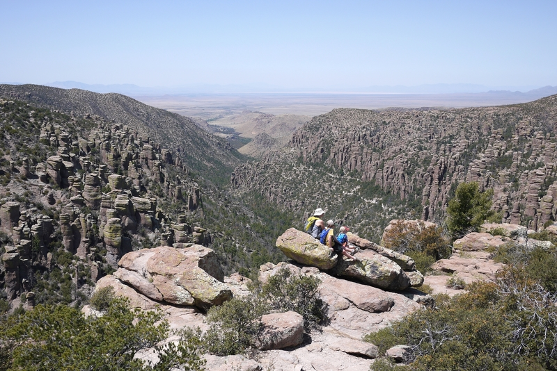 Amazing view at Inspiration Point, Chiricahua National Monument.