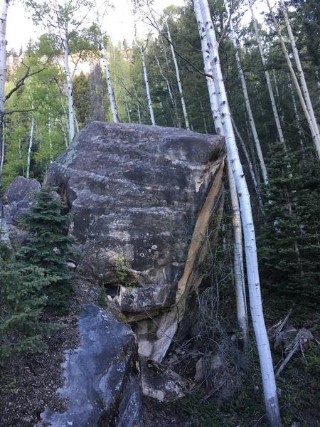 Large north boulder.