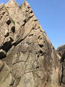 Rock Climbing Photo: About 35 feet high, ample cracks up at the top for...