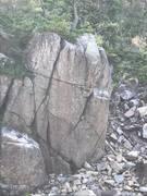 Rock Climbing Photo: Trad route or anchor the tree for a top. The groun...