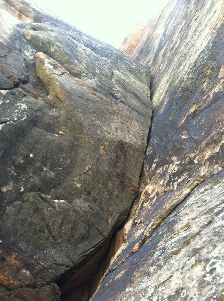 Rock Climbing Photo: Start of P2 Bulging tight hands yeehaa