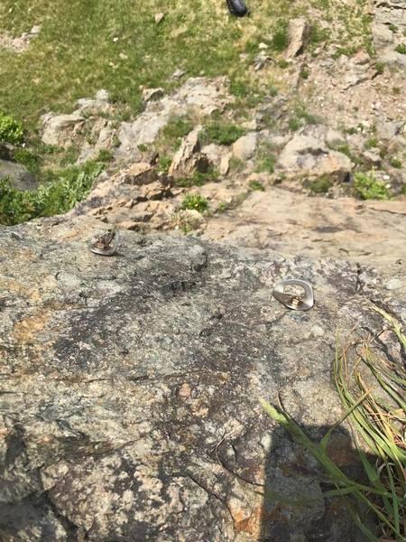 Rock Climbing Photo: Top anchors.