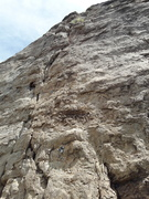 Rock Climbing Photo: The upper section of the route.