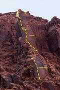 Rock Climbing Photo: Twisted Pangus just below The Bishop