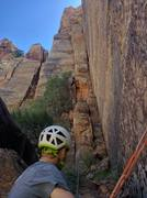 Rock Climbing Photo: Cruising up some tight hands on P3