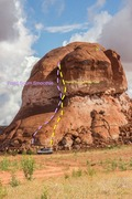 Rock Climbing Photo: As seen from the South West side. Both routes show...
