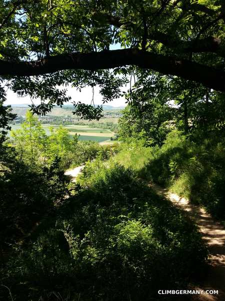 Rock Climbing Photo: The path leads downhill to a small junction. It's ...