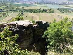 Rock Climbing Photo: The first parts of the crag you'll see on the bluf...