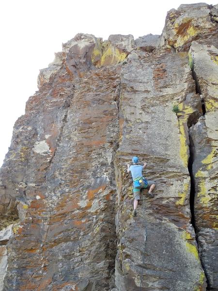 Rock Climbing Photo: Jill on The Jagged Edge